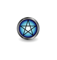 Glossy Pentacle vector image