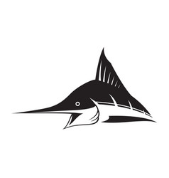 Graphic marlin fish vector
