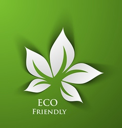 Green eco friendly vector image