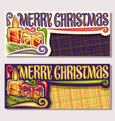 greeting cards for merry christmas vector image