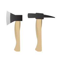 hammer and axe set for construction vector image