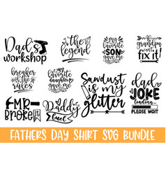 happy fathers day lettering hand drawn lettering vector image