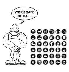 Health and Safety and hazard Icon collection vector