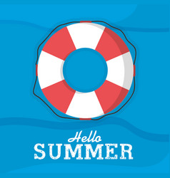 hello summmer card vector image
