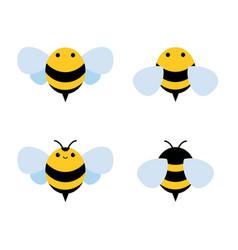 Honey and bee icon honey vector