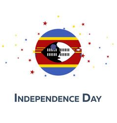 independence day of swaziland patriotic banner vector image