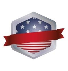 Isolated Usa flag inside frame design vector