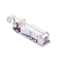 Isometric 3d deicer anti-icing vehicle parked vector