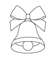 line art black and white bell vector image