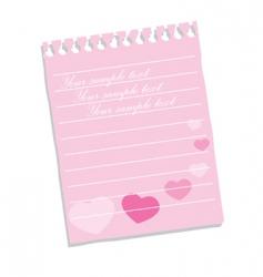 Love note vector