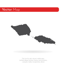 map samoa isolated black on vector image