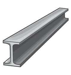 metal rolled rail piece for construction works vector image