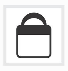 Minimal shopping bag icon vector
