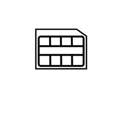 Nano sim card icon vector