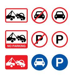 no parking sign parking forbidden design vector image