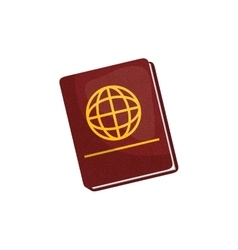 Passport travel isolated vector image