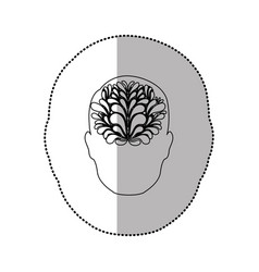 Person with brain idea icon vector