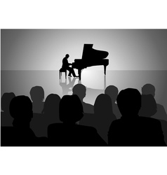 Piano Recital vector image