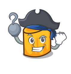Pirate rigatoni character cartoon style vector