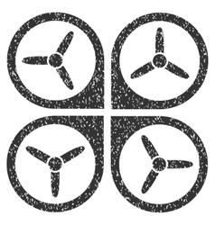 Quadrotor Grainy Texture Icon vector