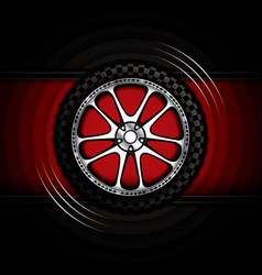 realistic racing car wheel vector image