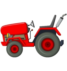 Red tractor cartoon for you design vector