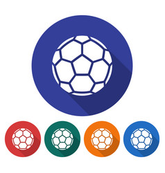 round icon of soccer ball european football flat vector image