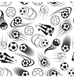 Seamless pattern of soccer balls vector image