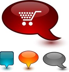 Shopping speech comic icons vector
