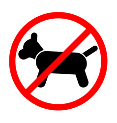 sign prohibiting dog vector image