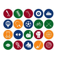 Sport icon signs and symbols set color in the vector