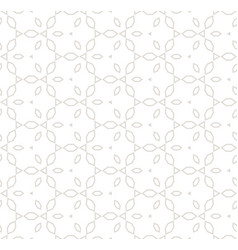 subtle white and beige seamless delicate pattern vector image