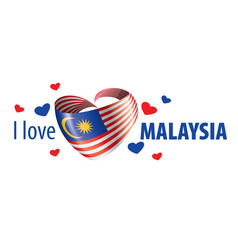 the national flag malaysia and the vector image