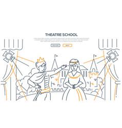 Theatre school - modern line design style web vector
