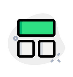 Three section blocks in a frame template layout vector