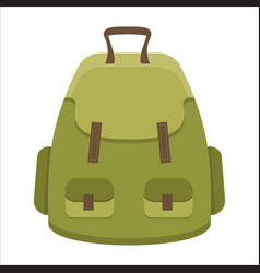 Tourist backpack or hike bags knapsacks icon vector