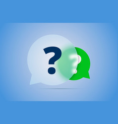 two question marks in speech bubbles vector image