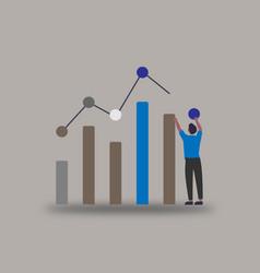 Visual data network marketing image stock vector