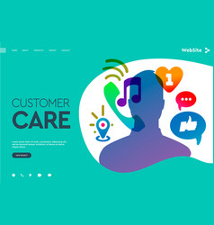 web page design templates for user support vector image