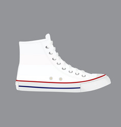 White canvas shoes vector