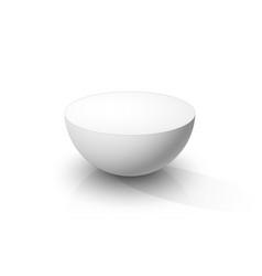 white hemisphere vector image