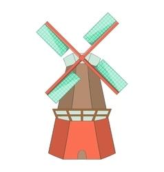 Windmill icon cartoon style vector