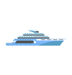 yacht or ship cruise liner or speedboat vector image