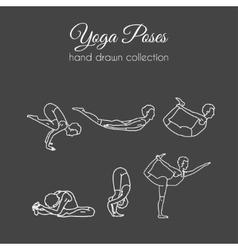 Yoga poses collection asana vector