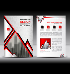 business brochure flyer template in a4 size red vector image vector image
