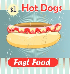 delicious hot dog vector image