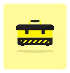 flat icon tool box vector image vector image