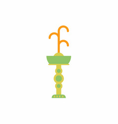 Fountain with drinking water icon park vector