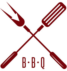 bbq tools with arrow simple icon design template vector image vector image