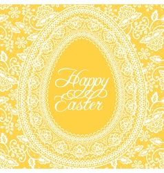 Easter yellow card vector image vector image
